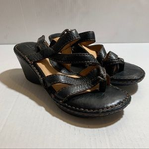 Born Puno Ankle Strap Wedge Sandals